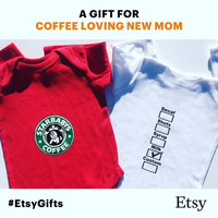 COFFEE Baby Clothes, Baby gift, Baby Onesuit, Funny Baby Bodysuit, Newborn Outfit, Baby Girl Clothes, Unisex Baby Clothes, Coffee Lover