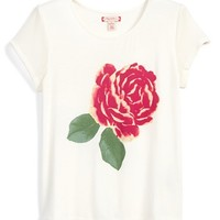 Girl's Ruby & Bloom Rose Graphic Tee,