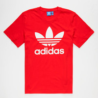 Adidas Originals Trefoil Mens T-Shirt Scarlet  In Sizes