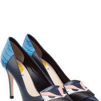 Fendi - Color Pop Leather Pumps