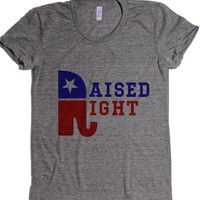 I was raised right-Female Athletic Grey T-Shirt