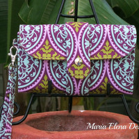 Multi Compartment Wallet - Scrollwork in Lilac
