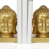 Buddha Head Bookends | Office | Storage-organization | Decor | Z Gallerie