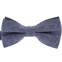 Tok Tok Designs Pre-Tied Bow Tie for Men & Teenagers (B335, 100% Cotton, Denim)