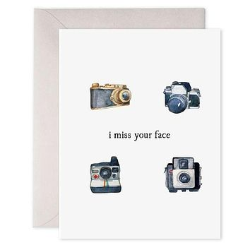 I Miss Your Face - Greeting Card [E. Frances]
