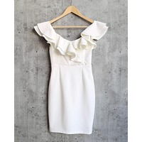 Ruffle Off the Shoulder Bodycon Dress in More Colors