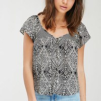 Abstract Geo V-Neck Top