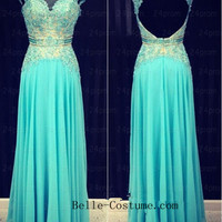 Custom-made Prom Dress, Strapless Lace Prom Dresses, Prom Dress, Long Lace Prom Dresses