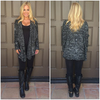 Middle Of The Night Cardigan - BLACK