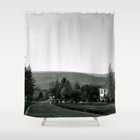 Old Road Shower Curtain by Emilytphoto
