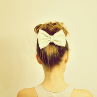 Medium Mint and Tan Bow // bow both brooch and hair clip-- Fairytale Inspired Accessories