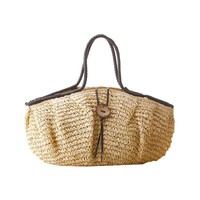 Vintage Pillow Straw Baskets French Market Summer Beach Bags Boho Women Causal Totes Large Woven Shoulder Bags Jute Pouch L1072