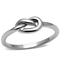 Stainless Steel Infinity Knot Rope Ring (3)
