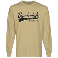 Vanderbilt Commodores All-American Primary Long Sleeve T-Shirt - Gold