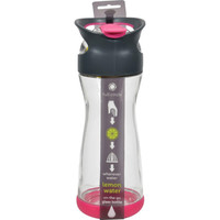 Full Circle Home On The Go Lemon Glass Water Bottle - Raspberry