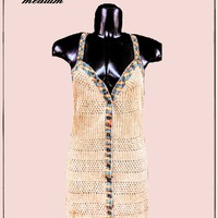 Free People hippie top size med/large