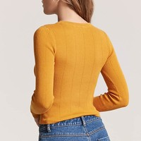 Ribbed Sweater-Knit Top