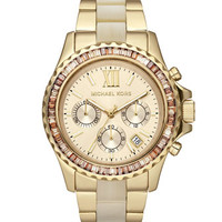 Michael Kors Mid-Size Two-Tone Stainless Steel Everest Chronograph Glitz Watch