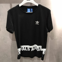 adidas Originals Black Short Sleeve Top Tee T-Shirt