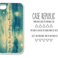 Apple iPhone 4 5  Ipod iTouch 5 Samsung Galaxy S3 Case Cover Life Magic Quote  Design
