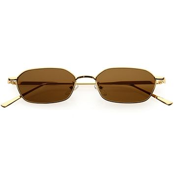 Small 90s Indie Geometric Metal Oval Sunglasses D254