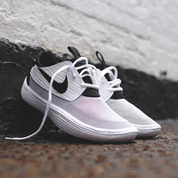 NIKE Solarsoft Moccasin - White / Black