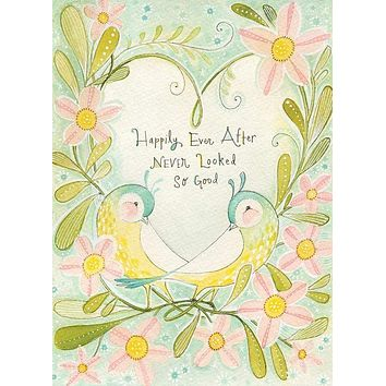 Happily Ever After, Lovebirds Greeting Card