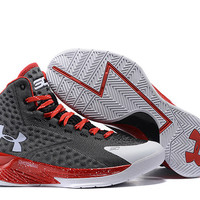 Men's Under Armour Stephen Curry One Black Red Basketball Shoes