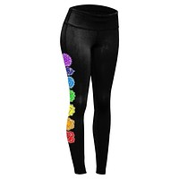 Color Your Chakras Bright Womens Performance Leggings