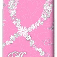 Pink Floral Breast Cancer Butterfly Design with Chevron Pattern iPhone 6 Case