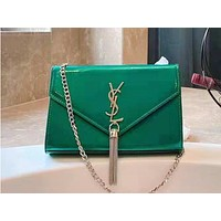 YSL hot seller of ladies' single-shoulder bag in pure color patent leather