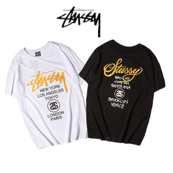 Stussy Cotton Summer Classics Couple Short Sleeve T-shirts [11501024204]