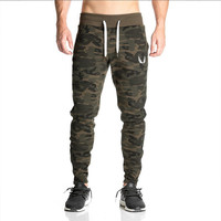 2017 NEW sweatpants Men's gasp workout bodybuilding clothing casual camouflage sweatpants joggers pants skinny trousers hot