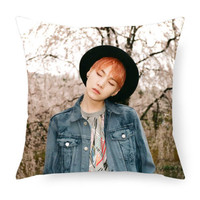 "Hot BTS Pillow Case Bangtan Boys Cushion Cover Custom Printed KPOP Decorative Throw Pillows Covers Zippered Gifts 18"" Two Sides"
