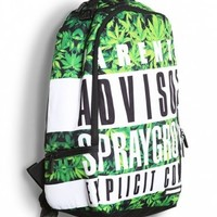 Sprayground Explicit Greens Deluxe Backpack