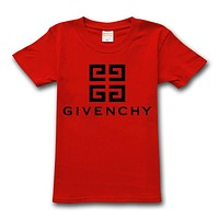 Givenchy T-Shirt Simple Round Neck Half Sleeve T-Shirt Red