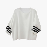 Striped Sleeved Top
