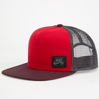 Nike Sb Lockup Mens Trucker Hat Red One Size For Men 24431830001