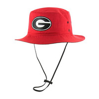 NCAA Georgia Bulldogs '47 Kirby Bucket Hat with Chin Strap, One Size Fits Most, Red