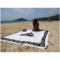 WHITE CHAKRA MEDITATION BEACH THROW TAPESTRY BEDSP