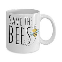 Bee Lovers Mug - Save the Bees - 11 oz Gift Mug
