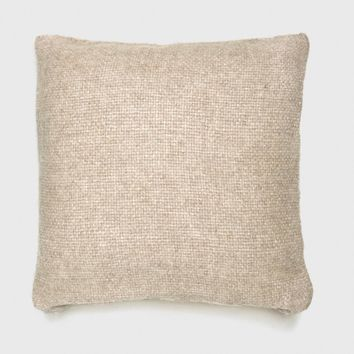 Alpaca Basketweave Pillow - Oatmeal