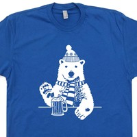 Polar Bear T Shirt Funny Beer T Shirts Vintage Beer T Shirts Funny Animal Shirt