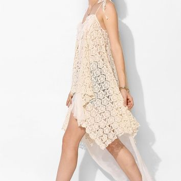 Pins And Needles Lace Shark Bite Cami - Urban Outfitters