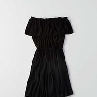Don't Ask Why Off-the-Shoulder Ruffle Dress, True Black