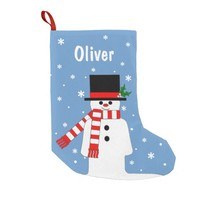 Personalized Chrismas Stocking with Jolly Snowman
