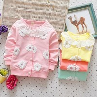 Baby girl clothing  spring autumn cotton cute coats infant girl jacket for girls outwear children baby coat toddler clothes