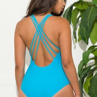 White Haven One Piece Swimsuit  Blue