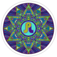 'Psychedelic Pretty Lights Sacred Mandala Festival Trippy' Sticker by rickitywrecked