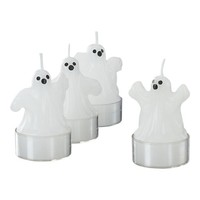 Set of 4 Ghost Tealights in Candles | Crate&Barrel